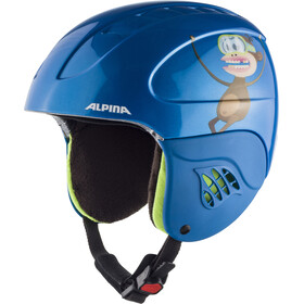 Alpina Carat Casque de ski Enfant, blue-monkey